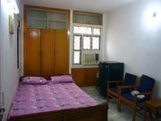 Fully furnished 1bhk BED ROOM kitch  WITH ATTACHAD TOILET