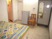 BORING ROAD  FULLY FURNISHED 1 BEDROOM HALL KITCHEN WITH A/C AND FRI