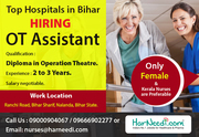 Hiring Female OT Assistant for Top Hospitals