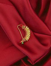 Buy Maharashtrian Bridal Nath Design at best price by Anuradha Art Jew